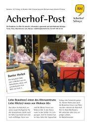 Acherhof-Post Nr. 15   23. Oktober 2020