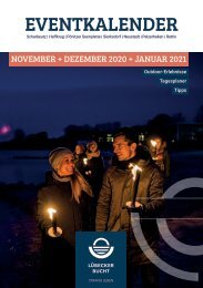 Eventkalender Lübecker Bucht November & Dezember 2020 & Januar 2021