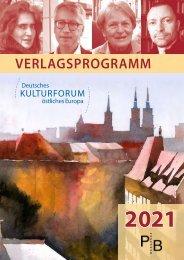 Verlagsverzeichnis des Deutschen Kulturforums östliches Europa 2021