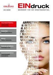 EINdruck - Der Newsletter von Göbel+Lenze Ausgabe 03/2020