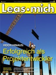 HOCH HINAUS: - Raiffeisen-Leasing