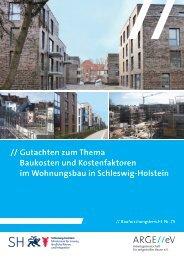Gutachten zum Thema Baukosten und Kostenfaktoren im Wohnungsbau SH