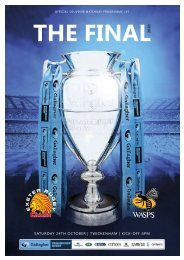 Premiership Rugby Final 2020 | Exeter Chiefs v Wasps