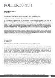 Juni-Auktionen bei Koller: Hohe Qualität in allen Fachbereichen