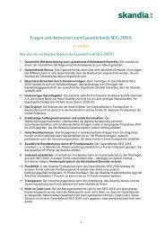 FAQ Garantiefonds SEG 20XX - Skandia