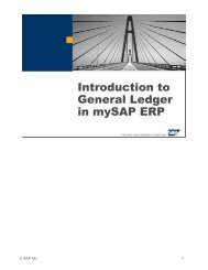 Introduction to General Ledger in mySAP ERP - Adfahrer