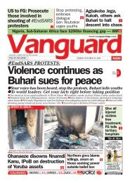 23102020 - #EndSARS PROTESTS: Violence continues as Buhari sues for peace
