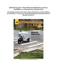 Self-Driving Cars: Press Release Distribution services, EmailWire, on Autonomous Vehicles (AV)