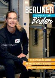 Das Kunden Magazin der Berliner Bäder - Ausgabe 02/2020