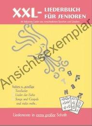 XXL Liederbuch für Senioren Ansichtsexemplar