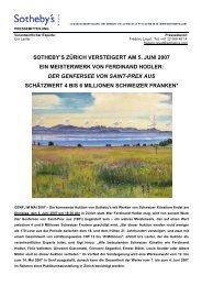 sotheby's zürich versteigert am 5. juni 2007 ein ... - Shareholder.com