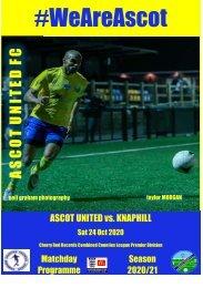 Ascot United v Knaphill 241020