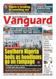 24102020 - South Nigeria boils as hoodlums go on rampage