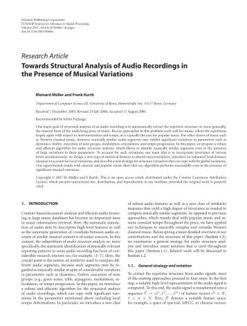 comparative analysis of two recordings