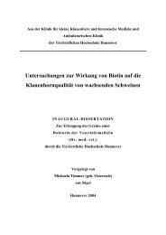 Untersuchungen zur Wirkung von Biotin auf die Klauenhornqualität ...