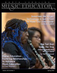 NC Music Educator Spring 2018