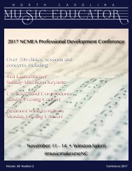 NC Music Educator Conference 2017