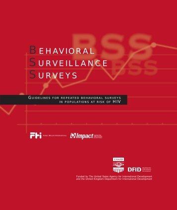 Behavioral Surveillance Surveys - FHI 360