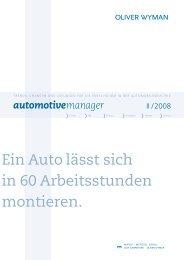 Komplexität: Die Hydra der Automobilindustrie - Oliver Wyman