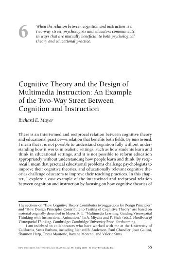 Classroom Applications Of Cognitive Theories Of Motivation Patriart