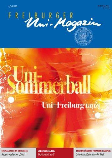 Uni-Magazin 4/2009 - FreiDok - Albert-Ludwigs-Universität Freiburg