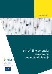 Priročnik o evropski zakonodaji o nediskriminaciji - MainStrat