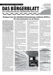 Endspurt bei den Stadtteil-Entwicklungs-Leitlinien (STELL)