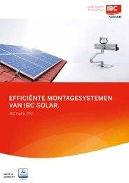 EFFICIENTE MONTAGESYSTEMEN VAN IBC SOLAR.