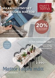 Matt-Tema, EM Bromölla/Karlskrona- Höstkatalog November 2020