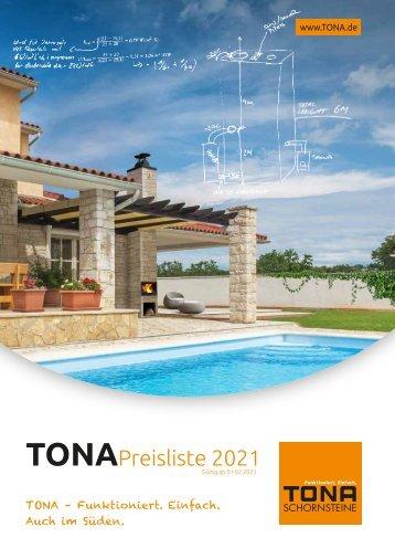 TONA Preisliste 2021