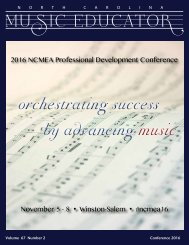 NC Music Educator Conference 2016