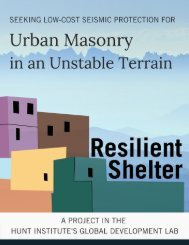 Seeking Low-Cost Seismic Protection for Urban Masonry in an Unstable Terrain