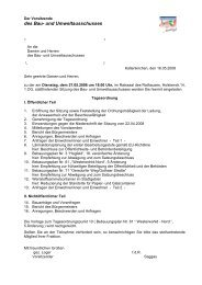 des Bau- und Umweltausschusses - Stadt Kaltenkirchen