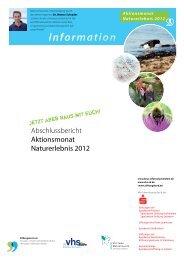 Aktionsmonat Naturerlebnis 2012 - Landesverband der ...