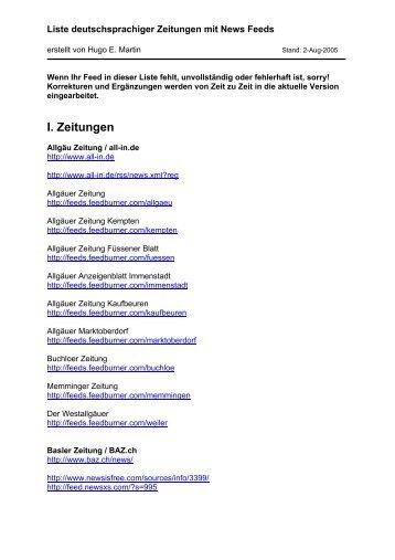 I. Zeitungen - eMartin.net