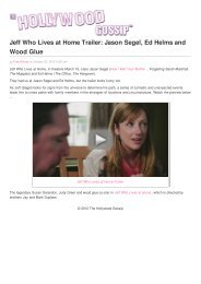 Jeff Who Lives at Home Trailer: Jason Segel, Ed Helms and Wood ...