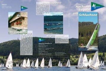 Hochsee- Segeln am Schluchsee - SVS