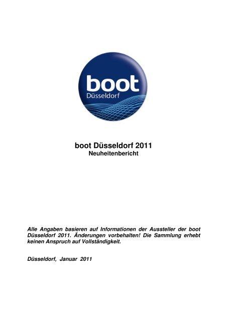 Neuheitenliste boot 2011 - Messe Düsseldorf
