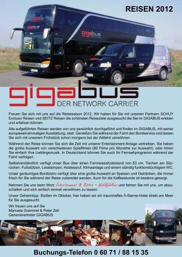 Buchungs-Telefon 0 60 71 / 88 15 35 - GIGABUS