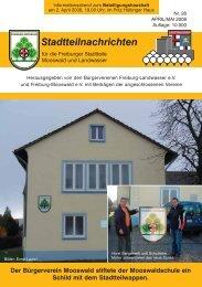 Stadtteilnachrichten Heft 26 - Bürgerverein Freiburg Mooswald eV