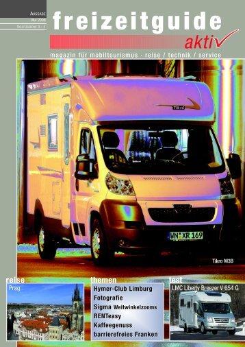 freizeitguide aktiv - magazin für mobiltourismus Mai 2009