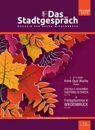 Das Stadtgespräch November 2020 für Mein Rheda-Wiedenbrück