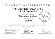 CleanImplant Foundation – Trusted Quality Champions Implants