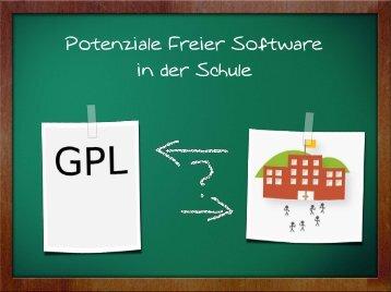 Potenziale Freier Software in der Schule