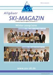 ASV Magazin November 2009 - Allgäuer Skiverband