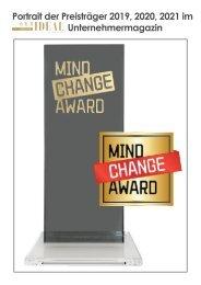 Mind Change Award 2019 2020 mit Sabine Oberhardt als Sonderaufmachung im Orhideal Magazin