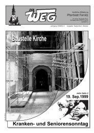 Baustelle Kirche Achtung! Anmeldung für die Firmung 2000