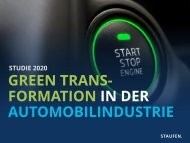Studie Green Transformation in der Automobilindustrie