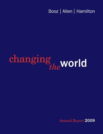 Changing the World - Booz Allen Hamilton