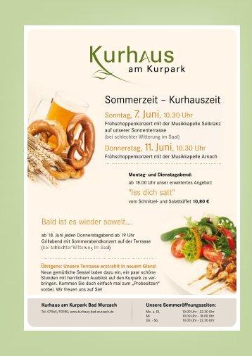 Sommerzeit – Kurhauszeit - Bad Wurzach